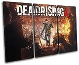 Bold Bloc Design - Dead Rising 4 XBOX ONE PS4 PC Gaming 150x100cm TREBLE Leinwand Kunstdruck Box gerahmte Bild Wand hangen - handgefertigt In Grossbritannien - gerahmt und bereit zum Aufhangen - Canvas Art Print