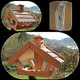 Vogelhaus (V53 Bausatz ) Vogelhäuser Vogelfutterhaus Vogelhäuschen-aus Holz mit Lärchenholzschindeln