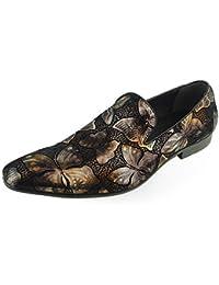 Beston Zapatos extravagantes para Hombres Mocasines sin Cordones con Punta Lisa Zapatos Casuales (Color :