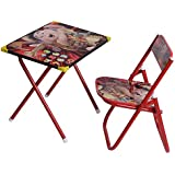 Archana Red Colour Study Table And Chair