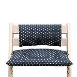 Blausberg Baby - Sitzkissen Kissen Polster Set Junior *31 FARBEN* für Tripp Trapp ohne Schlitz im Sitzkissen (Dunkelgrau Stern beschichtet ) - 100% made in HH