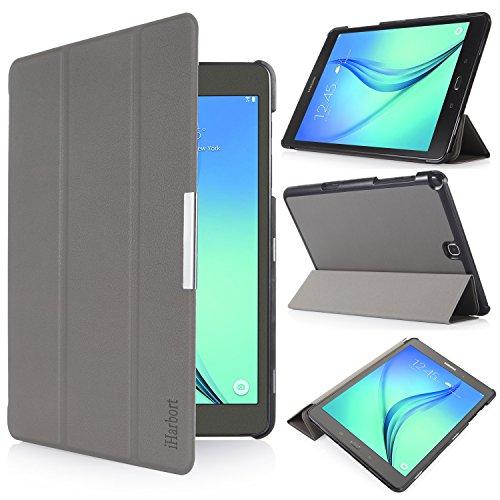 iHarbort® Samsung Galaxy Tab A 9.7 Hülle Case Tasche mit Standfunktion Auto Wake up Sleep PU Leder hüllen für Samsung Galaxy Tab A 9.7 (SM-P550 P555 T550 T555) Smart Cover mit Auto Sleep Wake up / Standfunktion (Galaxy Tab A 9.7, grau)