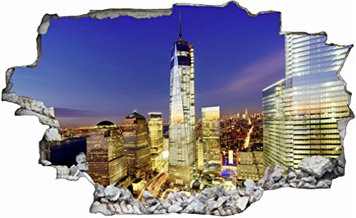 New York USA Stadt City Skyline 3D Look Wandtattoo 70 x 115 cm Wandbild Sticker Aufkleber C004