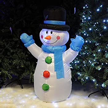 12m inflatable illuminated santa claus snowman self inflating electric blow up giant large outdoor garden christmas xmas figure statue display outdoors or
