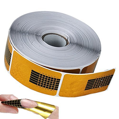 Biutee Model 500 pcs Modellier schablonen Nail Art Tips Erweiterung Forms Leitfaden Square-Gold Nagelschablonen für Gel - Nagel-form-schablone