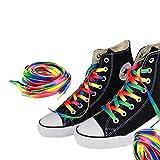 Aofocy 1 Paire de Chaussures de Sport en Toile Plat Bottes lac-Arc-en-Ciel 110cm