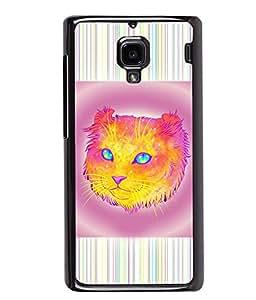 PrintVisa Metal Printed Cat Designer Back Case Cover for Xiaomi Redmi 1S-D5125