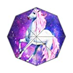 Birthday Gifts Nebula Galaxy Space Unicorn 100% Fabric And Aluminium Auto Foldable Umbrella