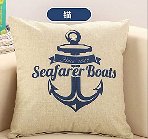 Neue Marine Anker Matrosen Baumwolle Bettwäsche Sofa Einrichtung Kissen Kissenbezug
