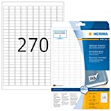 Herma 10000 Preisetiketten ablösbar (17,8 x 10 mm, DIN A4 Papier matt) 6.750 Preisschilder auf 25 Blatt, weiß, bedruckbar, selbstklebend, Movables