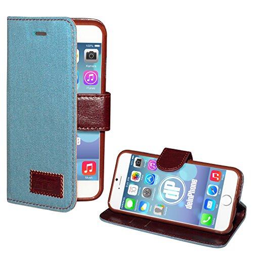"deinPhone Apple iPhone 6 6S (4.7"") SILIKON CASE Hülle deinPhone Eule Jeans Hellblau"