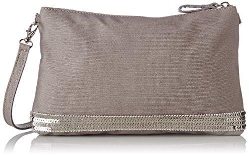 Vanessa Bruno Damen Pochette Épaule Coton Et Paillettes Schultertasche, 4,5x18x27 centimeters Violett (Parme)