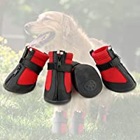 Grand Line Dog and Pet Paw Protector Boots - Waterproof, Wear-Resistant, Anti-Slip Sole - Set of 4