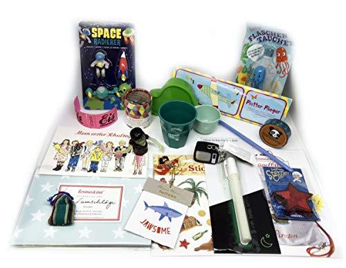 Füllung für Schultüte Junge Set Hai Krima Space Flugzeig Rice etc ... Einschulung Schulstart 1. Schultag