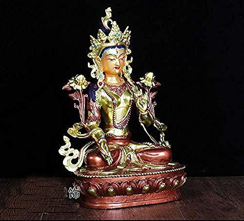 Tischplatten dekoration Figur Statue Statuette Skulpturen Buddha Große - Großhandel buddhistische Zubehör - Home Familie wirksam - Buddhismus Vergoldung Weiße Tara lackiertem Kupfer Buddha Statue