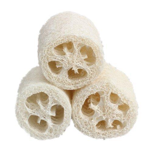 Makwes 3 Stück natürliche Luffa Pad multifunktionale Küche Geschirrtücher handgefertigt tragbare Luffa Scrubber Schwamm für Bad Dusche, Küchentisch Bettwäsche, Geschirrtücher 3 Zoll