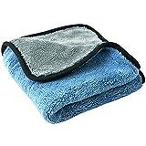 Autoscar, Panno in microfibra per Lavaggio, Pulizia e Lucidatura auto, casa e mobili –45x 38cm, colore: blu, pulisce e asciuga delicatamente senza graffiare, Protegge la superficie (blu)
