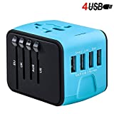 #8: VOLTRONIX™ Travel Adapter with USB, All-in-one Universal Worldwide Travel Adapter with 4 usb ports, World travel power adapter converter, International adapter wall plug, Portable USB Charger 4-port, Mobile Charger with USB charging port, Power Adapter Charger with high speed 2.4A USB, 3.0A USB Type-C ports, Charger for iPhone/Android mobile, Tablets, Mac book etc, with Fast/quick charge, Safety fuse, Surge Protector, European Adapter, Multi country socket AC Outlet for Europe, UK, US, AU, Asia