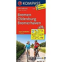 Bremen - Oldenburg - Bremerhaven: Fahrradkarte. GPS-genau. 1:70000 (KOMPASS-Fahrradkarten Deutschland, Band 3009)