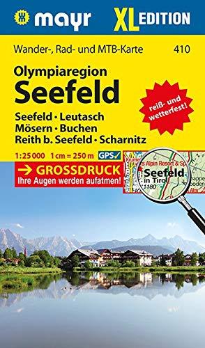 Olympiaregion Seefeld XL: Wander-, MTB- und Tourenkarte. GPS-genau. Großdruck. 1:25000 (Mayr Wanderkarten)