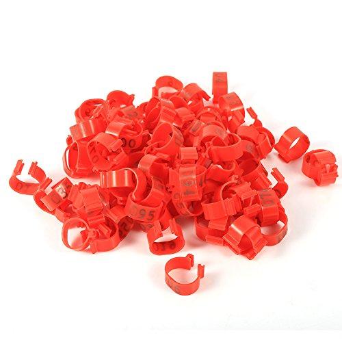 100 Piezas Patas Aves Corral 16 Mm 001-100 Plástico