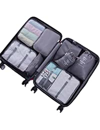 Packing Cubes for Travel - 8 Sets Luggage Organiser Storage Bags Suitcase Compression Pouches