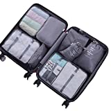 Best Travel Luggage Sets - Packing Cubes for Travel - 8 Sets Luggage Review