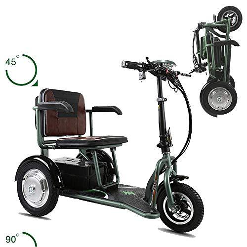 Erwachsene Dreiräder, zusammenklappbarer elektrischer Mini-Dreiradroller für ältere und behinderte Menschen - Gewicht 30 kg - Belastung 150 kg - maximale Laufleistung 60 km Dreirad für Erwachsene
