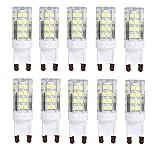 10er Pack 4W G9 LED Lampe 400 Lumen, Kein Flackern und 6000k Kaltweiß G9 LED Leuchtmittel Ersatz 40W G9 Halogenlampe, 360° Abstrahlwinkel