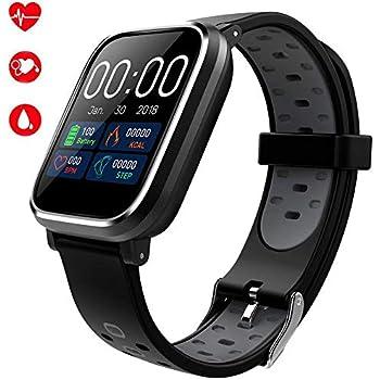 Ventdest Smartwatch con GPS, Impermeable Reloj Inteligente Apoyo Pulsómetro, Monitor de sueño, monitoreo de la presión Arterial etc, Bluetooth 4.0 ...