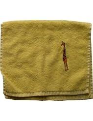 Handtuch aus Frottee mit Bestickung Giraffe