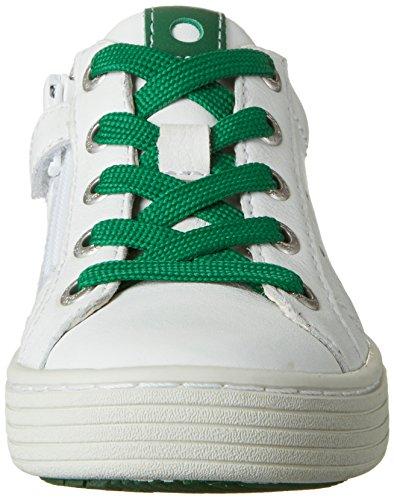 Lurchi Henry, chaussons d'intérieur garçon Weiß (White Green)
