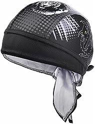 Vbiger Secado Rápido Sombrero de Ciclismo Pañuelo Pirata Gorra de Hombre para Deporte (Negro)