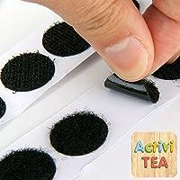 Velcro adhesivo redondo negro