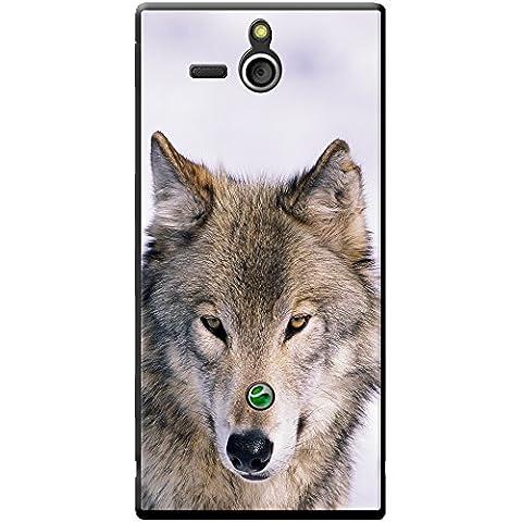 Loup Loups Étui rigide pour téléphone portable, plastique, Portrait Of A Wolf, Sony Xperia U