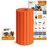 Blackroll Orange Groove Ultra Die Faszienrolle, inkl. Übungs-Poster und -Booklet