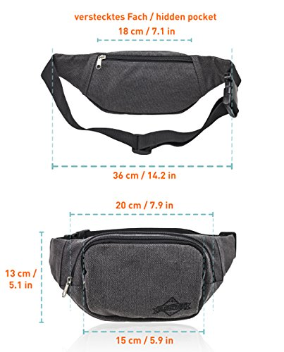 035baf6cce686 Bauchtasche Gürteltasche Hüfttasche für Herren schwarz