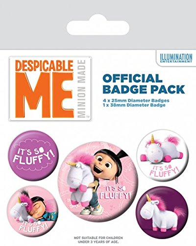 Despicable Cattivissimo Me Spilla Pin Badges 5 Pack It's So Fluffy Pyramid International
