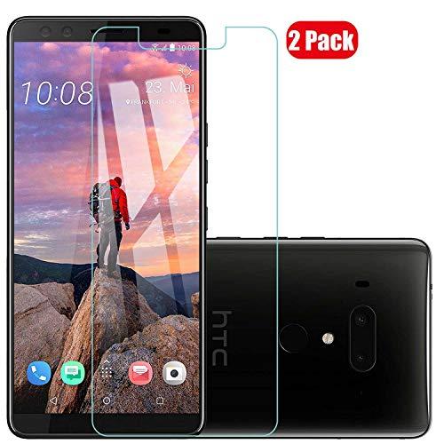 Voviqi Panzerglas Schutzfolie für HTC U12 Plus, 9H verbesserte gehärtetes Glas Folie [Blasenfrei] [Anti-Fingerabdruck] Bildschirmschutzfolie für HTC U12 Plus, 2 Stück