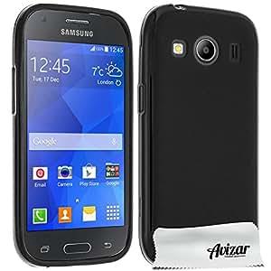 Avizar - Coque Silicone Gel pour Samsung Galaxy Ace 4 - Protection Noir