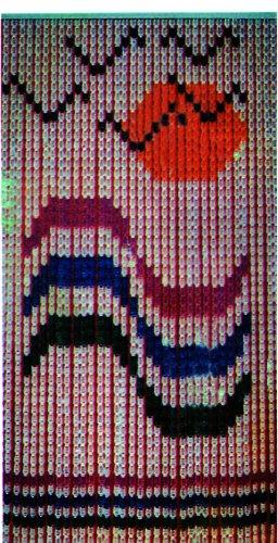 Vette cdf01044Meer Vorhang A Blutplättchen, blau