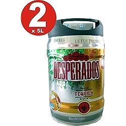 2 x Desperados cerveza con tequila en 5 litros barril incl. Espita
