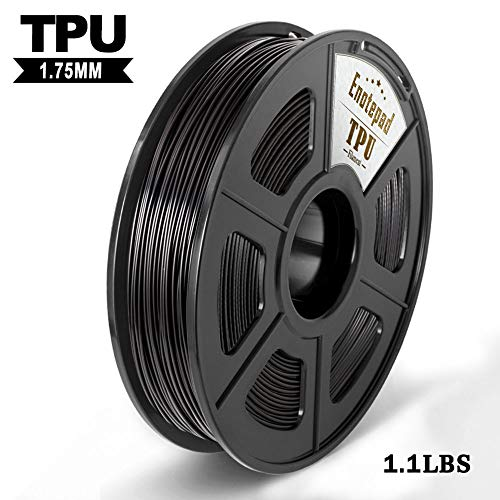 Tpu 3d printer filament,flexible filament 1.75mm,dimensional accuracy +/- 0.02mm tolerance,high-elastic&non-toxic material,enotepad black tpu