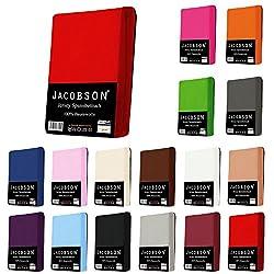 Jersey Spannbettlaken Spannbetttuch für WASSERBETT BOXSPRINGBETT von Jacobson (140 x 200 cm - 160 x 220 cm, Grau)
