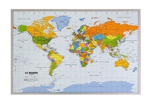 Amazoncom World Travel Map Pin Board Modern Slate Handmade USA - Us map pinboard