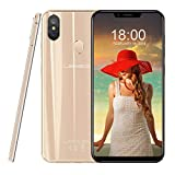 Leagoo S9-5.85 '' 4G Smartphone Pas Cher,Téléphones Portables Débloqués, Reconnaissance faciale, Double SIM (Android 8.1, Octa Core 4 Go + 32 Go, Triple caméra Prise de Vue Ultra HD) (Or)