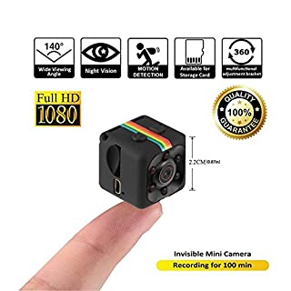 SQ11 Autokamera Infrarot Nachtsicht HD Mini Kamera Mini DVR Bewegungsmelder Kamera Überwachung Schwarz
