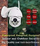 Balscw-J Smart Monitor 1080P HD Telecamera di Sicurezza Wireless Outdoor, IP66 Impermeabile con 20M Visione Notturna, Motion Detection Registrazione Allarme