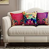 [Sponsored]SEJ Cotton (Set Of 3) HD Digital Premium Cushion Cover 16 By 16 INCH Multicolor