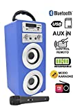 DYNASONIC 025Lautsprecher Bluetooth Funktion Karaoke blau